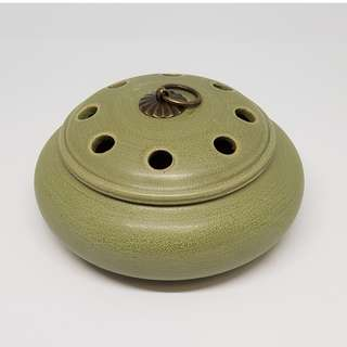 Ceramic Incense Burner (Green) 磨砂复古香爐(青)