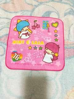 Sanrio Little Twin Stars 双子星細方巾-紅色邊(Brand new 全新)