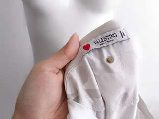 Auth VALENTINO white camouflage top