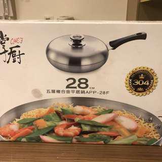 掌廚(28cm不鏽鋼平底鍋)