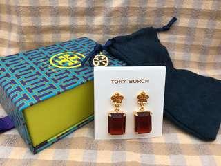 Tory Burch紅寶石耳環