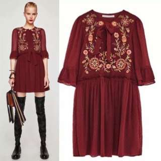 KATIE Embroidered Mesh Dress