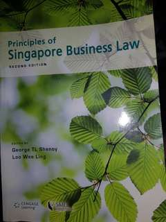 SMU Principles Of Singapore Business Law