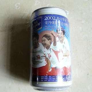 02年韓國OB Lager世界杯紀念罐一個