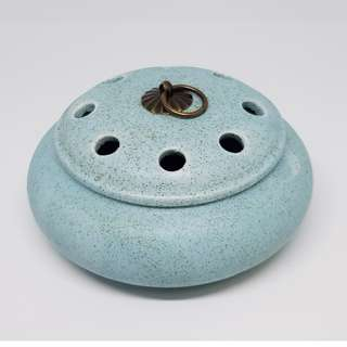 Ceramic Incense Burner (Blue) 磨砂复古香爐(蓝)