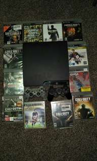 Complete PS3 with 2 controllers and 12 games