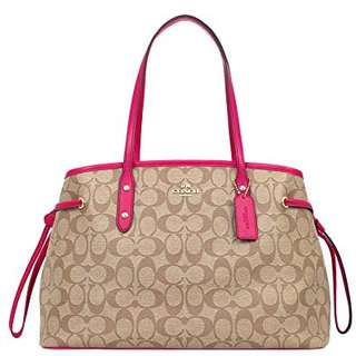 authentic coach signature drawstring carryall
