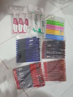 Stationery set (pens and correction tapes)