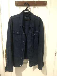 Trucker Jacket Biru Pull & Bear