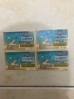 Malaysian Lottery Ticket 01.01.2000