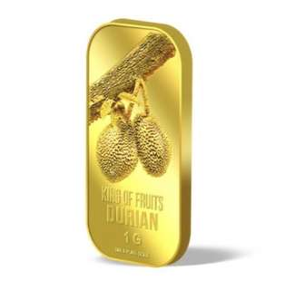 🚚 1g 999 24K Pure gold bar- Durian