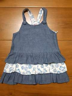 baby lizzie maong dress 18 mos.