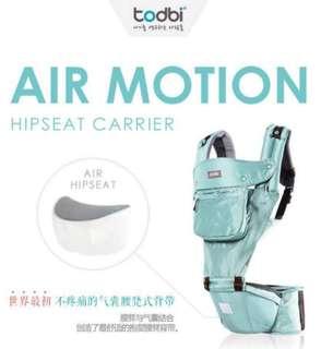 🈹🎉🎊不議價 Todbi氣墊揹帶! air motion hip seat