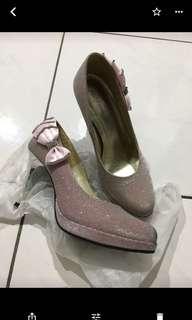 🚚 Itabella粉色厚底閃亮婚鞋,尺寸22