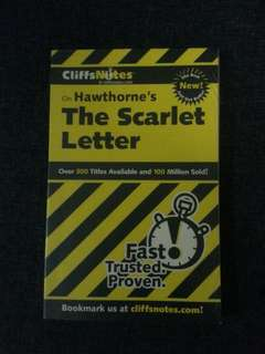 CliffsNotes - The Scarlet Letter by Hawthorne