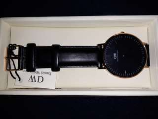Daniel Wellington - Classic Black Watch Sheffield 36mm Rose Gold