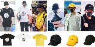CHANYEOL ANDA OFFICIAL BRAND CAP / Tshirt
