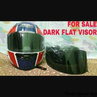 VISOR: Dark Flat Visor untuk helm RSV, KBC, THX, SIRCON, HJC Yamaha