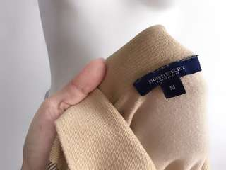 Auth Burberry tan collared sweater top