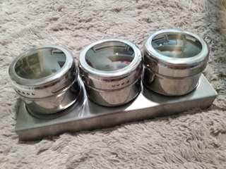 *Last Set!* 3 pcs Magnetic Condiment set