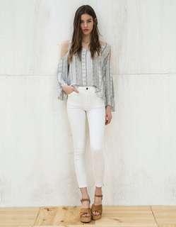 celana jeans putih bershka
