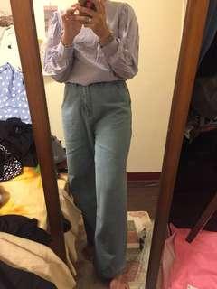🚚 紫羅蘭棉麻襯衫
