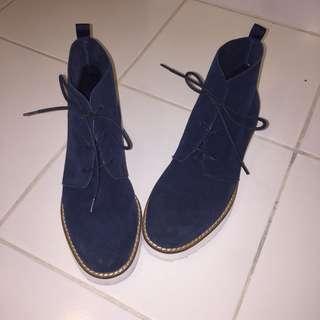 Blue Pump Boots