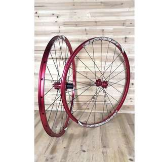 (Hot Red rolling out) Custom Build to order FASTace DA25  (120 Engagement with 6 pawls ) Loud sound/Smooth Wheelset with Sun Ringle Inferno 25 Welded MTB Rim