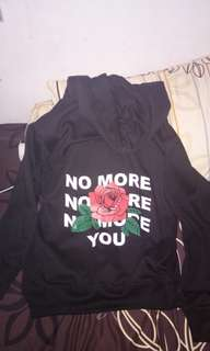 hoodie hitam no more you