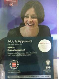 ACCA BPP F9 Revision Kit, Study Text, Passcards