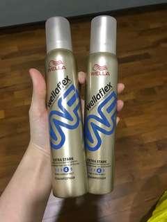 2x Wellaflex Hairspray