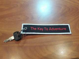 Motorcycle Car Key Tag - The Key to Adventure/Freedom