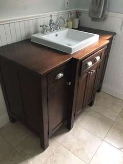 Custom Built Wood Bathroom Vanity