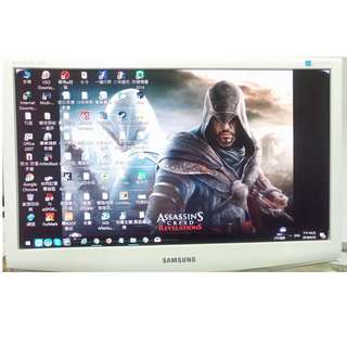 三星 SAMSUNG 純白款 22吋 液晶螢幕 LCD 高視覺品質 看網頁打遊戲非常舒服