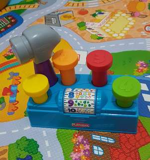 Playskool tap and spin toolbench