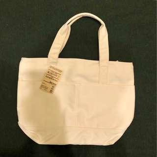 🚚 無印良品 MUJI |  純棉 潑水加工 雙口袋 手拿 托特包 帆布包