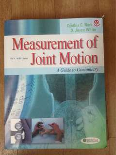 Measurement of joint motion 4th ed Norkin