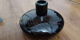 Vase - Black with shiny bronze trims
