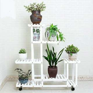Instock Flower Stand Plant Bonsai Pot Rack 花盆盆栽架 Rak Bunga