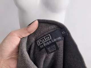 Auth Polo Ralph Lauren grey sweater top