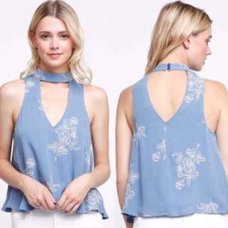 GINA Embroidered Top