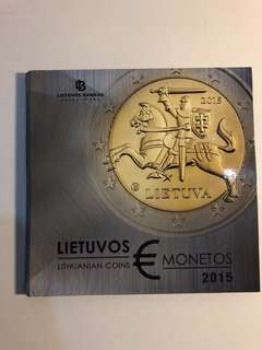 Lithuania 2015 Proof euro coin sets with mint medal