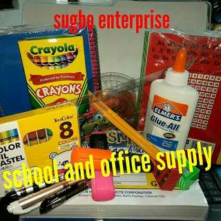 For your school and office supply needs...