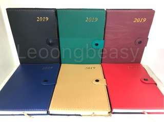 2019 leather planner (corporate giveaways) minimum of 100pcs. Free 1color print