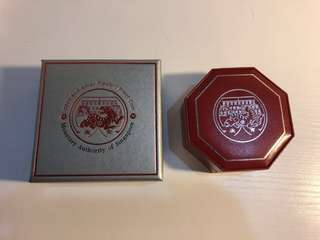 Singapore 2010 Tiger 2 OZ silver proof coin with cert and box