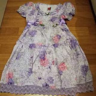 Purple kid dress