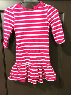 Baby Gap red and white stripes dress 4T