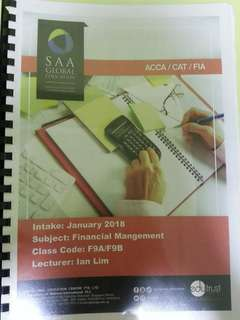 ACCA F9 Lecture Notes & Revision Notes
