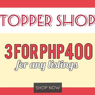 3 for Php 400