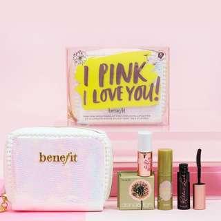 🚚 Benefit I Pink I Love You Gift Set